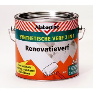 Alabastine synthetische verf 2-in-1 renovatieverf 2,5 L 2500-RV