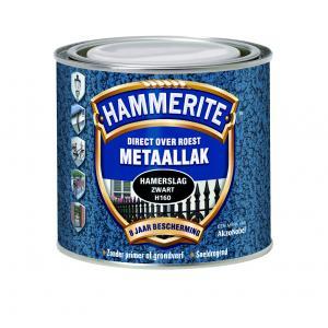 Hammerite metaallak hamerslag zwart H160 250 ml 250 HSL ZW
