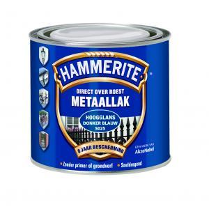 Hammerite metaallak hoogglans zwart S060 250 ml 250 HGL ZW