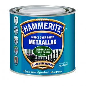 Hammerite metaallak zijdeglans standgroen Z238 250 ml 250 ZG SGR