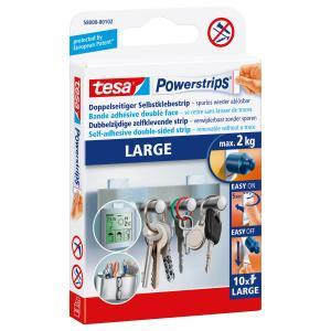Tesa Powerstrips large 10 stuks 58000-102