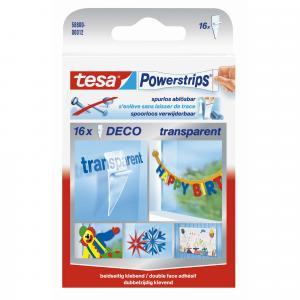 Tesa Powerstrips Decostrips transparant 58800-12
