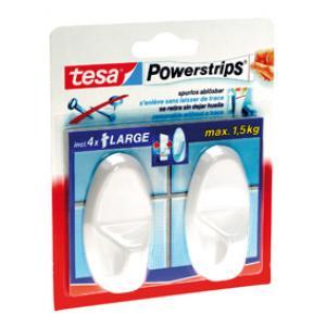 Tesa Powerstrips large ovaal wit 58013-49