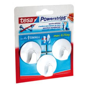Tesa Powerstrips haak small rond wit 57577