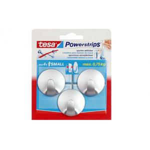Tesa Powerstrips haak small rond chroom 57578