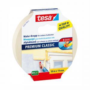 Tesa Premium Classic afplakband 50 m x 19 mm 5281