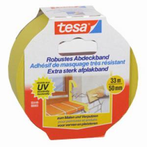 Tesa Extra Sterk afplakband geel 33 m x 50 mm