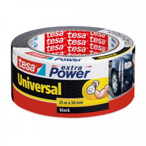 Tesa Extra Power Universal tape zwart 25 m x 50 mm N56388 ZW
