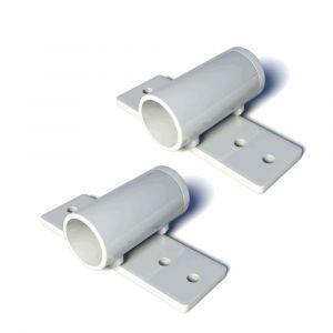 SecuBar Twist barriere stanf montage nokken op de dag wit RAL 9010 set 2 stuks - A50750130 - afbeelding 1