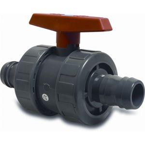 Mega kogelkraan PVC-U 38 mm slangtule 10 bar grijs - Y51055141 - afbeelding 1