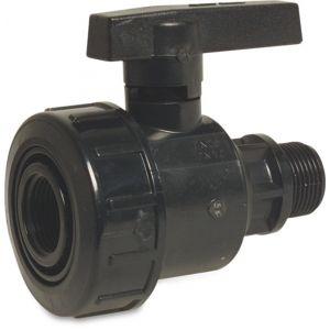 Bosta kogelkraan PVC-U 3/4 inch binnendraad x buitendraad 6 bar zwart - Y51055102 - afbeelding 1