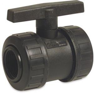 Bosta kogelkraan PP 1 inch binnendraad 6 bar zwart - Y51055107 - afbeelding 1