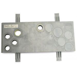 Bosta meterkastvloerplaat HDPE grijs KOMO type Standaard gas - Y51050219 - afbeelding 1