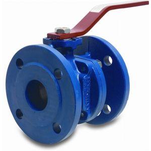 Profec kogelkraan gietijzer GG 25 DN50 DIN flens 16 bar blauw PN10/16 - Y51054729 - afbeelding 1