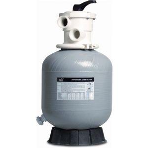 Mega zandfilter glasvezel versterkt polyester 50 mm-1 1/2 inch metrisch-imperial lijmmof 2,5 bar grijs type V350 - Y51061030 - afbeelding 1