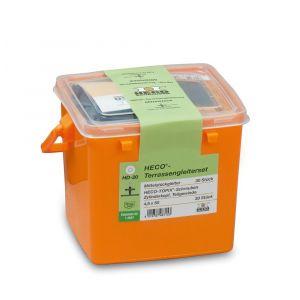 Heco vlondergeleiderset 30x middengeleider en 30x Heco-Topix-vlondergeleiderschroef in kunststof box - Y50802132 - afbeelding 1
