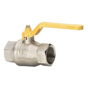 Baggerman messing DVGW gaskogelkraan volgens DIN 3537 1/4 inch 2x binnendraad - Y50050040 - afbeelding 1