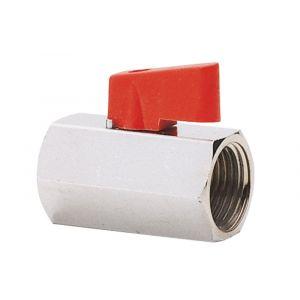 Baggerman Mini kogelkraan messing type 12600 1/4 inch binnendraad x buitendraad - Y50050074 - afbeelding 1