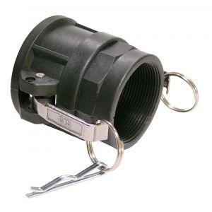 Baggerman Kamlok buiskoppeling PP Coupler type 633-D vrouwelijk 1/2 inch binnendraad - A50051642 - afbeelding 1