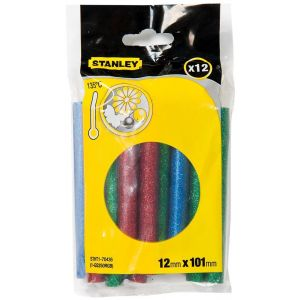 Stanley Dual Melt Glitter rood-groen-blauw lijmpatroon 11,3x101 mm 12 stuks - Y51020056 - afbeelding 1
