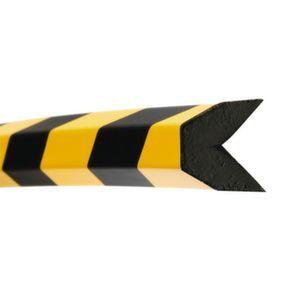 Orbis waaschuwings- en beveiligingsprofiel PU-schuim hoekbescherming trapezium HxB 40x40 mm L 1000 mm geel-zwart - Z10017478 - afbeelding 1