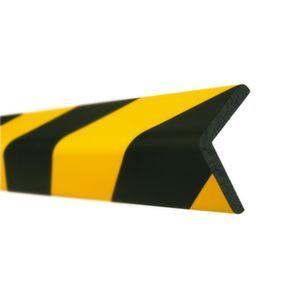 Orbis waaschuwings- en beveiligingsprofiel PU-schuim hoekbescherming hoek HxB 60x60 mm L 1000 mm geel-zwart - Z10017484 - afbeelding 1