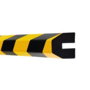 Orbis waaschuwings- en beveiligingsprofiel PU-schuim profielbescherming trapezium HxB 40x40 mm L 1000 mm geel-zwart - Z10017486 - afbeelding 1