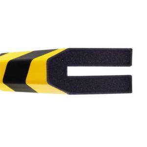 Orbis waaschuwings- en beveiligingsprofiel PU-schuim profielbescherming trapezium HxB 40x80 mm L 1000 mm geel-zwart - Z10017488 - afbeelding 1