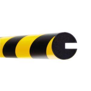 Orbis waaschuwings- en beveiligingsprofiel PU-schuim profielbescherming rond diameter 40 mm L 1000 mm geel-zwart - Z10017490 - afbeelding 1