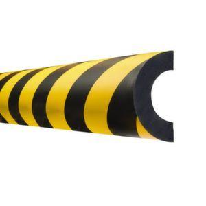 Orbis waaschuwings- en beveiligingsprofiel PU-schuim buisbescherming boog voor diameter 37-80 mm L 1000 mm geel-zwart - Z10017492 - afbeelding 1