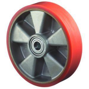 Orbis wiel draagvermogen 200 kg DxB 100x40 mm gegoten PU,aluminium velg - Z10002676 - afbeelding 1