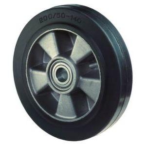 Orbis wiel draagvermogen 350 kg DxB 160x50 mm elastisch massief rubberen zwart aluminium velg - Z10002752 - afbeelding 1