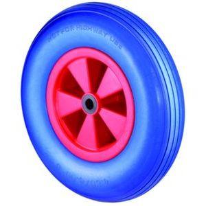 Orbis wiel draagvermogen 200 kg DxB 400x100 mm PU banden kunststof blauwe velg lijn profiel - Z10002675 - afbeelding 1