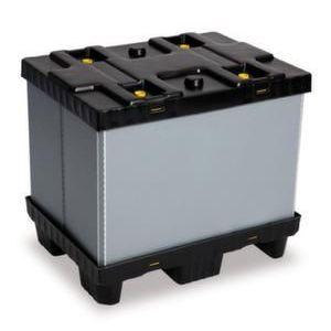 Orbis vouwbare palletbox PP-PE HxLxB 700x800x600 mm 215 L 6 poten - Z10012965 - afbeelding 1