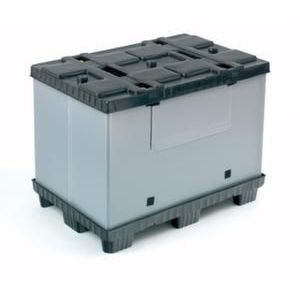 Orbis vouwbare palletbox PP-PE HxLxB 900x1200x800 mm 620 L 9 poten - Z10012966 - afbeelding 1