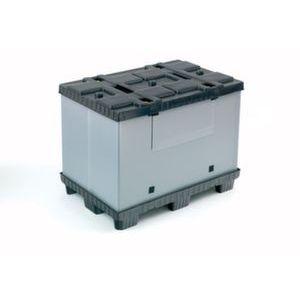 Orbis vouwbare palletbox PP-PE HxLxB 1000x1200x1000 mm 895 L 9 poten - Z10012967 - afbeelding 1