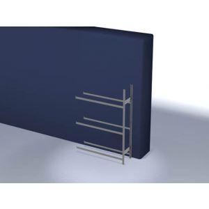 Orbis bandenstelling aanbouwveld HxBxD 2000x1510x435 mm vaklast 150 kg 3 etages verzinkt - Z10007453 - afbeelding 1
