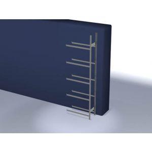 Orbis bandenstelling aanbouwveld HxBxD 3000x1010x435 mm vaklast 150 kg 5 etages verzinkt - Z10007459 - afbeelding 1