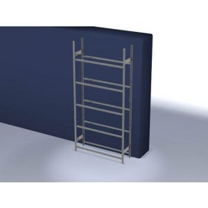 Orbis bandenstelling basisveld HxBxD 3000x1560x435 mm vaklast 150 kg 5 etages verzinkt - Z10007460 - afbeelding 1