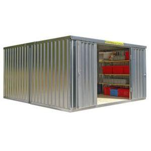 Orbis containercombinatie HxLxB 2150x4340x4050 mm 2 modules ongemonteerd verzinkt - Z10079067 - afbeelding 1