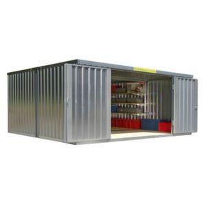 Orbis containercombinatie HxLxB 2150x4340x5080 mm 2 modules ongemonteerd verzinkt - Z10079068 - afbeelding 1