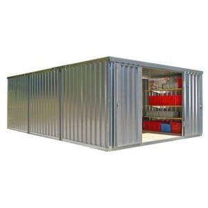 Orbis containercombinatie HxLxB 2150x6520x3050 mm 3 modules ongemonteerd verzinkt - Z10079069 - afbeelding 1