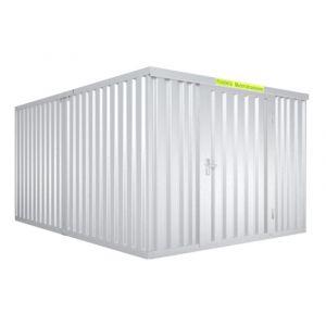 Orbis containercombinatie HxLxB 2150x4340x3050 mm 2 modules met houten vloer verzinkt voorgemonteerd - Z10079131 - afbeelding 1