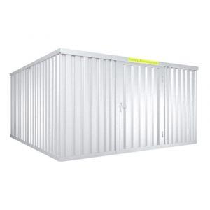 Orbis containercombinatie HxLxB 2150x4340x4050 mm 2 modules met houten vloer verzinkt voorgemonteerd - Z10079132 - afbeelding 1