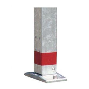 Orbis afzetpaal vierkant 70x70m omklapbaar bodemplaat cilinderslot spitse kop verzinkt-rood - Z10080958 - afbeelding 3