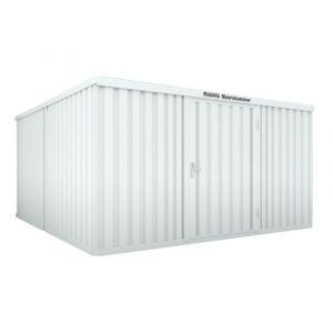 Orbis containercombinatie HxLxB 2150x4340x4050 mm 2 modules met houten vloer verzinkt gelakt voorgemonteerd afwerking RAL 7035 - Z10079147 - afbeelding 1