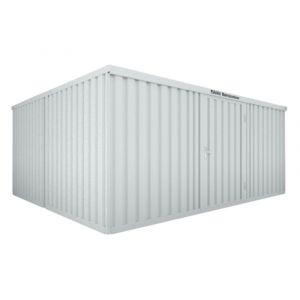 Orbis containercombinatie HxLxB 2150x4340x5080 mm 2 modules met houten vloer verzinkt gelakt voorgemonteerd afwerking RAL 7035 - Z10079153 - afbeelding 1