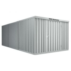 Orbis containercombinatie HxLxB 2150x6520x3050 mm 3 modules met houten vloer verzinkt gelakt voorgemonteerd afwerking RAL 7035 - Z10079159 - afbeelding 1