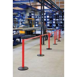 Orbis afzetsysteem Safety aluminium voet gegoten gewicht/PVC HxD 1000x355 mm 1xband L 2,3 m rood-wit - Z10081446 - afbeelding 1