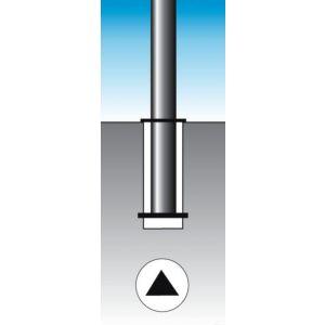 Orbis afzetpaal ronde buis diameter 76 mm uitneembaar bodemplaat driekantslot spitse kop verzinkt-rood - Z10080952 - afbeelding 2